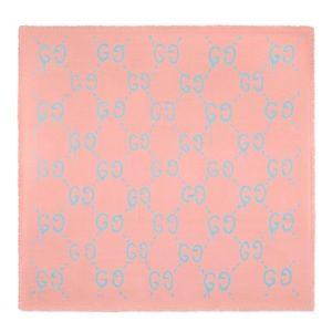 🌸💙NWT Gucci Ghost GG Pink/Blue modal/silk Scarf